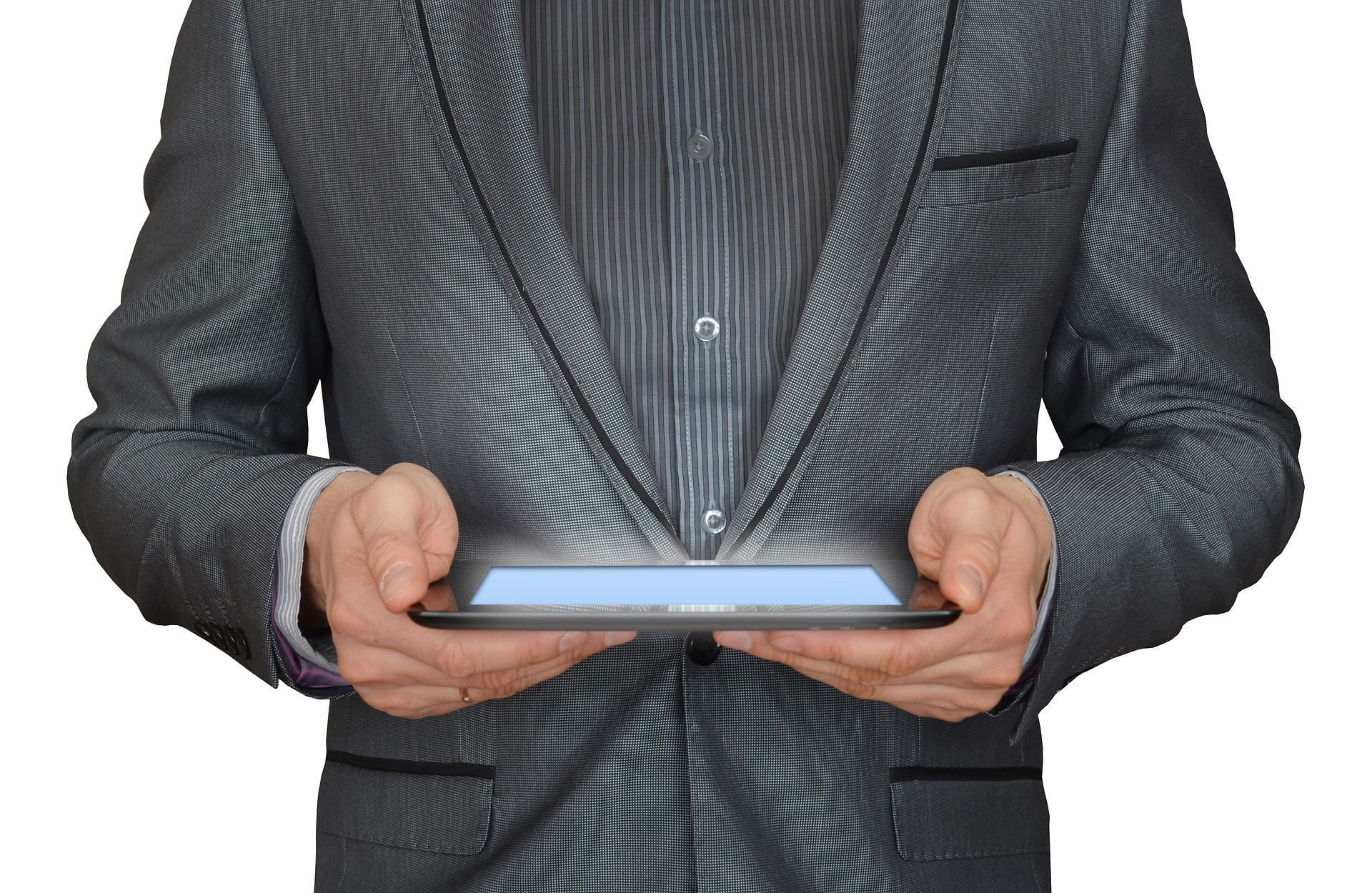 DS Computer Services Computer Consultant holdin a Tablet